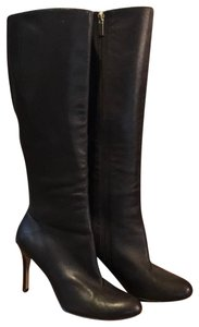 Vero Cuoio Leather Knee High Zipper Brown Boots
