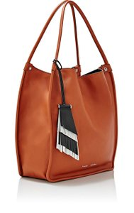 Proenza Schouler Fringe Fringed Key Ring Tote in Huge Markdown! Mahogany