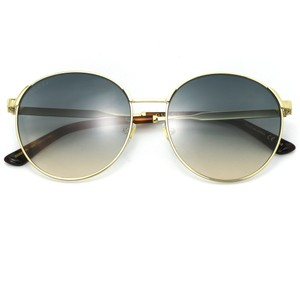 2b29655ffcc Gucci New Gucci 0206SK Round Sunglasses Gold Frame with Blue Gradient Lens