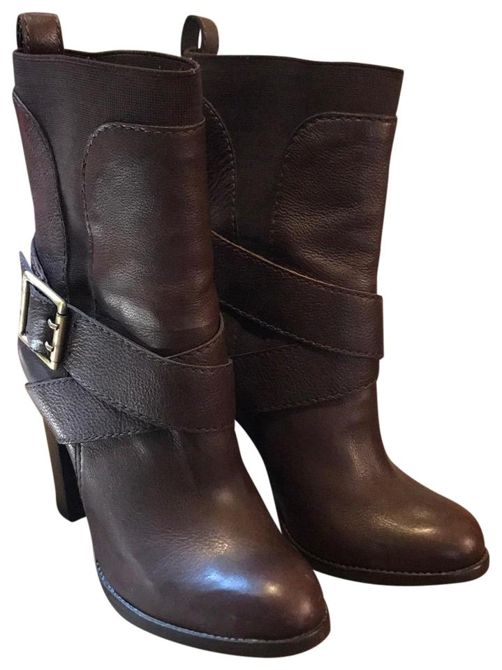 Juicy High Couture Brown High Juicy Heel Buckle Ankle Boots/Booties 6e5843