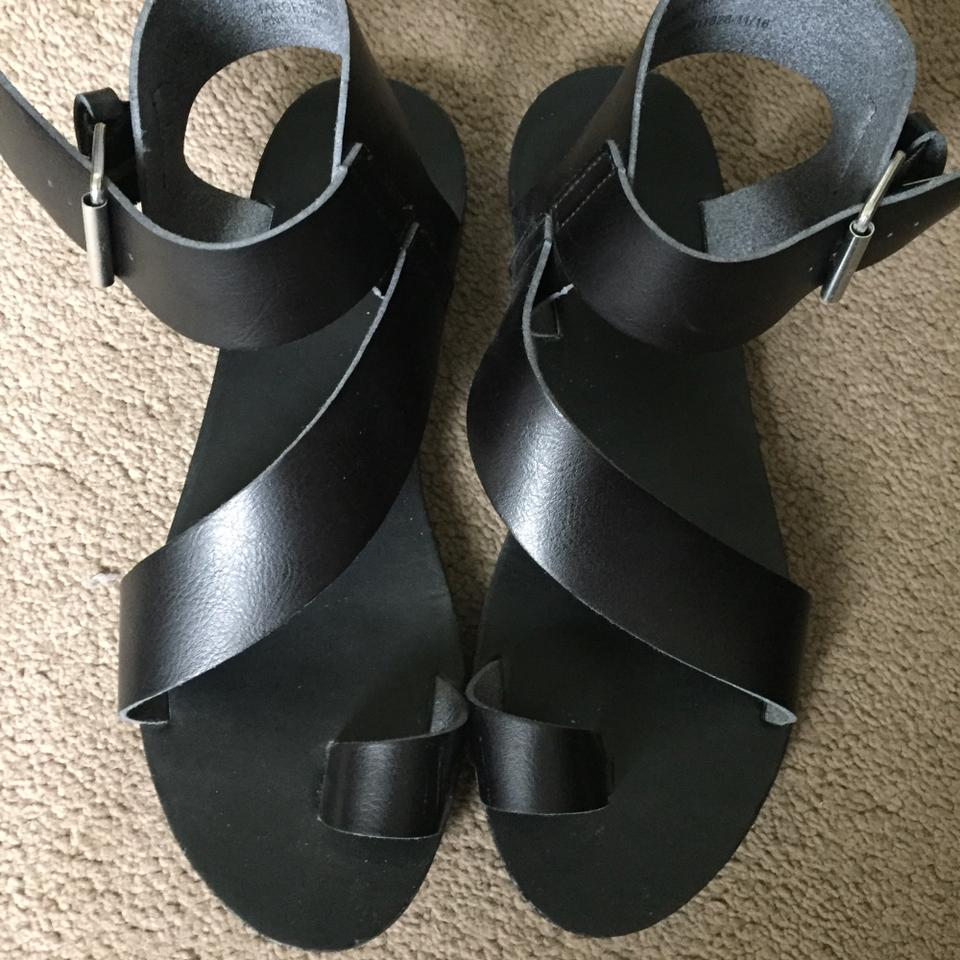 190c38ee1 Mossimo Supply Co. Black Strappy Sandals Size US 8 Regular (M