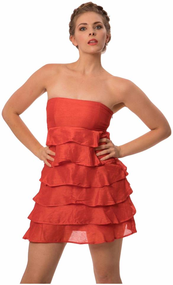 Reiss Coral Silk Short Cocktail Dress Size 10 (M) - Tradesy