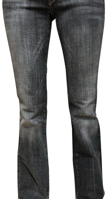 Item - Grey Distressed Ingrid #002 Flare Leg Jeans Size 8 (M, 29, 30)