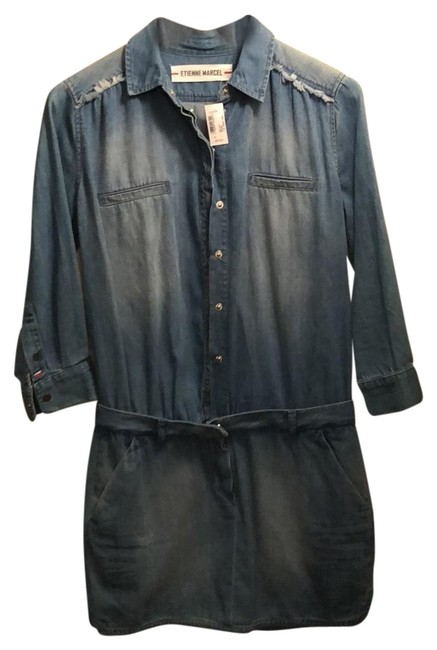 Item - Chambray Em7103 Short Casual Dress Size 6 (S)