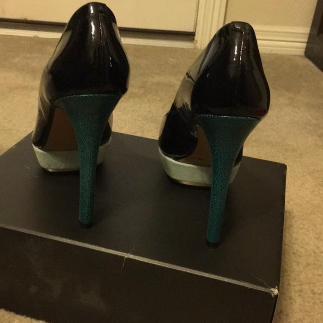 Vince Camuto Black and Blue Vc Dacoma Platforms Size US 8 Regular (M, B) Vince Camuto Black and Blue Vc Dacoma Platforms Size US 8 Regular (M, B) Image 4