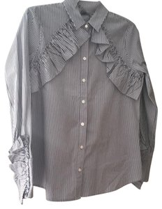 Kenneth Cole Top indigo and light blue