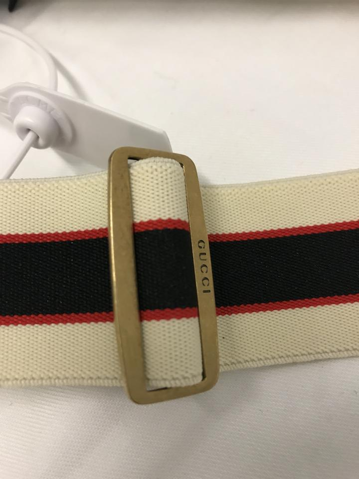 f5e8532fbd2 Gucci Stripe Belt with Double G and Crystals Size 80 Image 11.  123456789101112