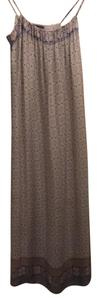 White, Brown, Red, Blue Maxi Dress by Vince