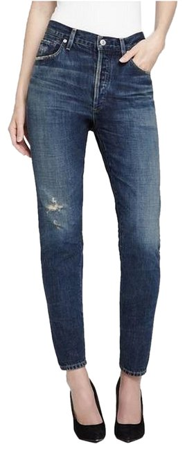 Item - Wiltern Distressed Liya High Rise Classic Fit Crop Capri/Cropped Jeans Size 27 (4, S)