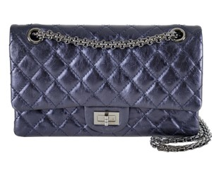 Chanel Double Flap Medium Leather 2.55 Shoulder Bag