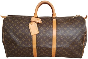 Louis Vuitton Monogram Duffle Brown Travel Bag