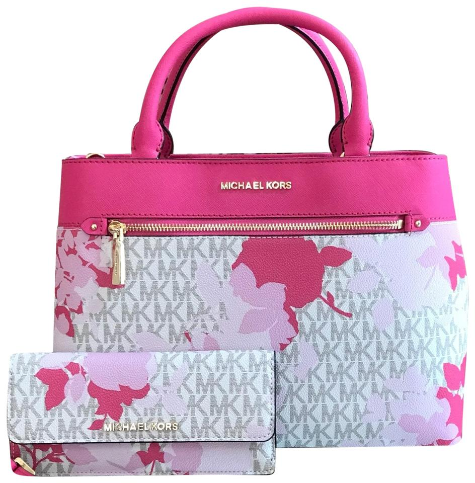 0e2e9fb6ce5a Michael Kors Set Of 2 Items Handbag And Wallet Hailee Trifold Wallet Satchel  in granita Image ...