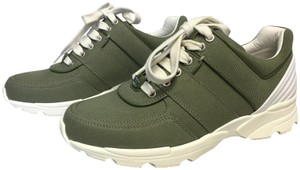 Chanel Sneakers Classics Olive Green and White Athletic