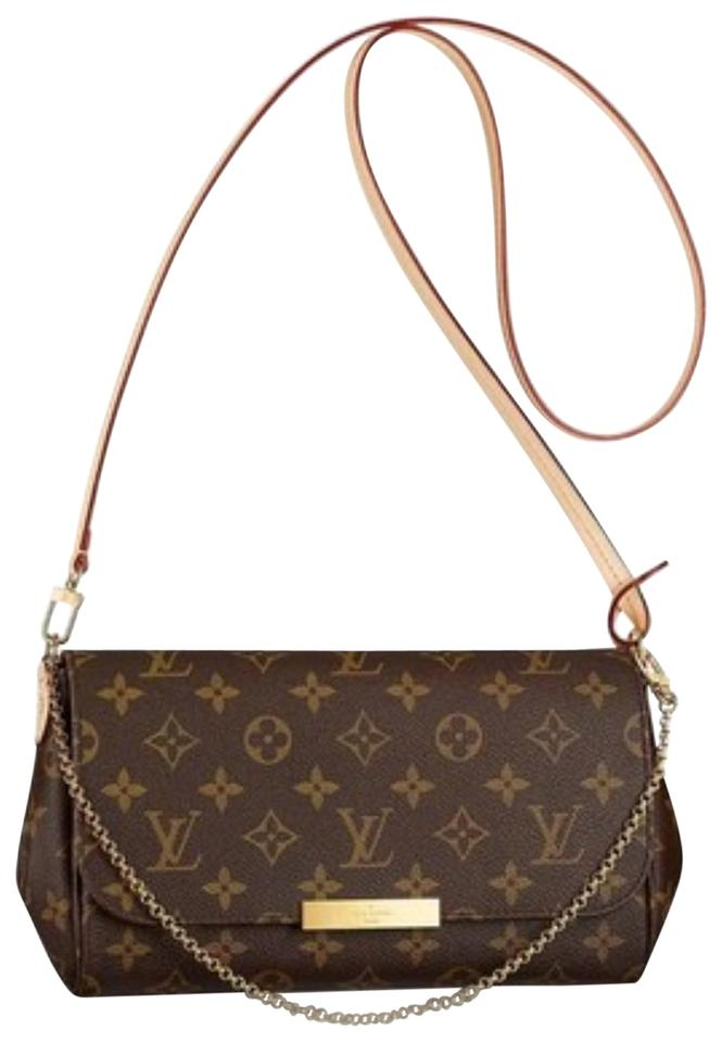 Louis Vuitton Favorite Mm Monogram. Discontinued Model Brown Canvas ... c60668f2199ca