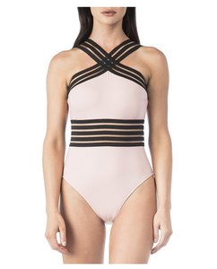 Kenneth Cole NWT KENNETH COLE STOMPIN IN MY STILLETOS HIGH NECK MIO SWIMSUIT