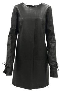 Lanvin Leather Lambskin Classic Chic Edgy Dress