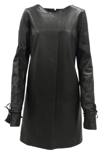 Preload https://img-static.tradesy.com/item/23131284/lanvin-brown-long-sleeve-lambskin-leather-short-night-out-dress-size-8-m-0-0-650-650.jpg