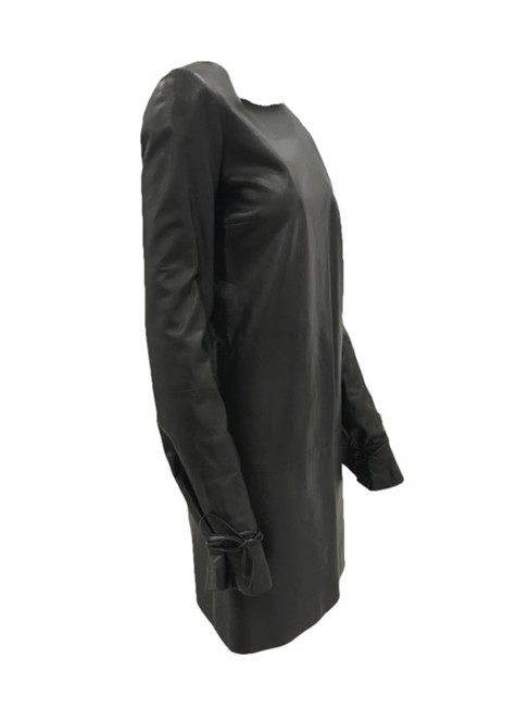 Lanvin Leather Lambskin Classic Chic Edgy Dress Image 1