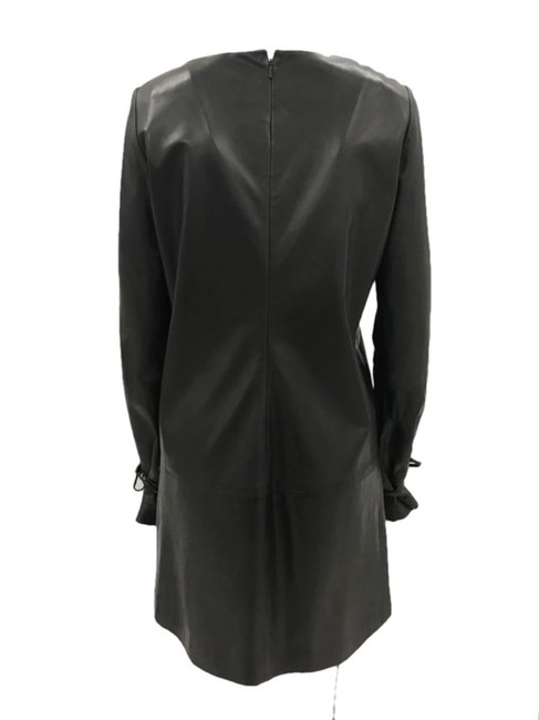 Lanvin Leather Lambskin Classic Chic Edgy Dress Image 2