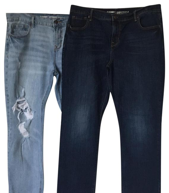 Item - Dark Wash and Light Wash Rinse Relaxed Fit Jeans Size 14 (L, 34)