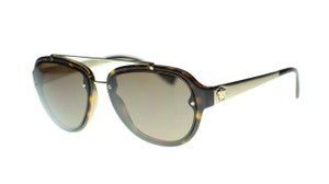 9937cac88b00 Versace Versace Pilot Aviator Sunglasses VE4327 10873 Havana Brown Authentic
