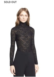 Stella McCartney Lace Sheer Bodycon Premium Top Black