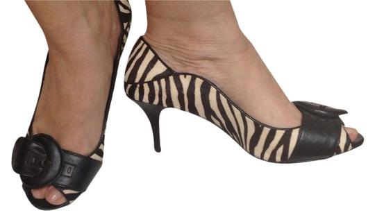 Max Studio Animal Print black/white Pumps