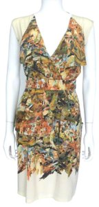 Tracy Reese short dress Cream with Multi-color splash pattern on Tradesy