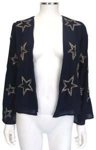 CHASOR Navy Blue w/silver beaded star pattern Jacket