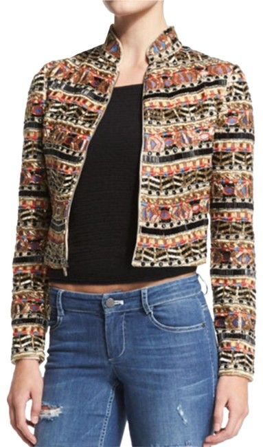 Item - Multicolor Mikayla Embellished Cropped Jacket Blazer Size 2 (XS)