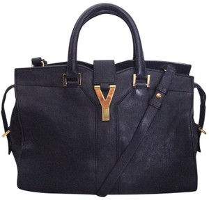 Saint Laurent ChYc Ysl Cabas Tote Marine (Navy Blue) Leather ... 1551b8c3ec337