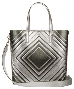 Anya Hindmarch Tote in Silver/ dark olive