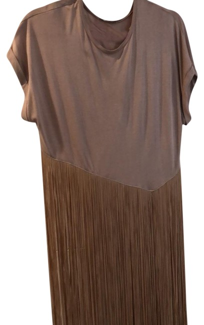 Item - Beige Cream Taupe Mid-length Night Out Dress Size 8 (M)
