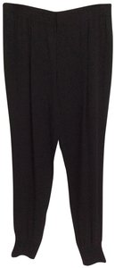 Vince Trendy Silk Jogger Jogger Relaxed Pants Black