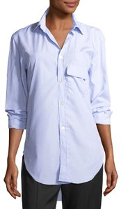 Burberry Button Down Shirt Pale Blue/White