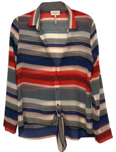 Laundry by Shelli Segal Top red blue white black cream