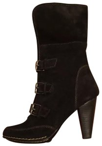 Eürosoft by Söfft Suede Dress Fold Over Cuff Fur Lined Black Boots