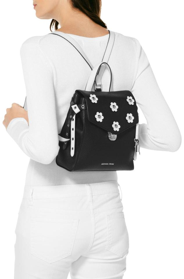 4f5888d78679 MICHAEL Michael Kors Bristol Small Floral Black White Leather Backpack