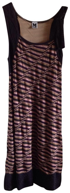 Item - Multicolor Pull On Knee Length Mid-length Night Out Dress Size 8 (M)