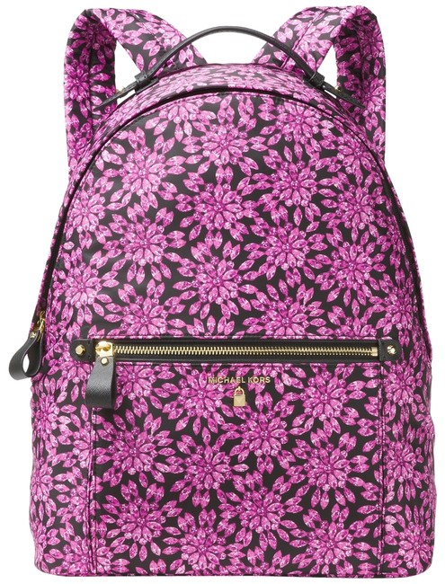 Item - New Jewel Floral Lightweight Travel Laptop Pink Nylon Backpack