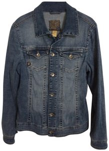 Christopher Blue Festival Long Denim Womens Jean Jacket