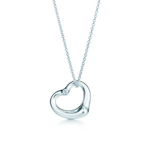 Tiffany & Co. Retired large 27mm open heart with diamond
