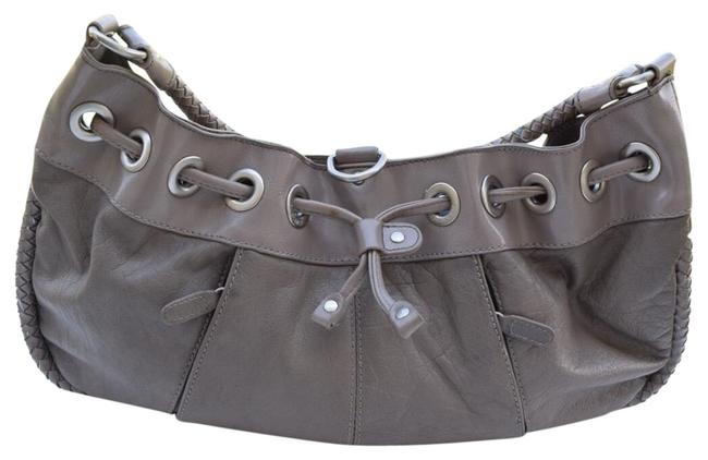 Item - Gray Leather Hobo Bag