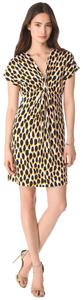 Diane von Furstenberg short dress Yellow, Black, White Jersey Silk Natalie on Tradesy