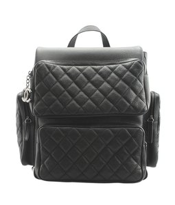 Chanel Chanel Black Caviar Quilted Leather Backpack (146650)