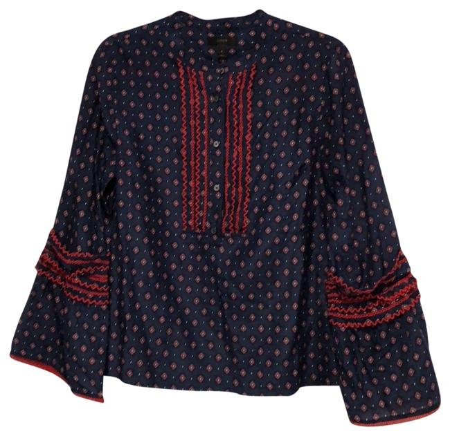 J.Crew Navy White Red Blue Tunic Size 6 (S) J.Crew Navy White Red Blue Tunic Size 6 (S) Image 1