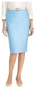 Talbots Textured Tweed Back Slit Fully Lined Hidden Zipper Pencil Construction Mini Skirt Multi-Color