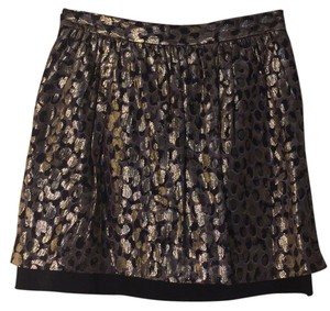 Club Monaco Skirt Metallic Leopard