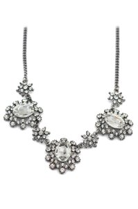Lily of France Crystal silver charm necklace