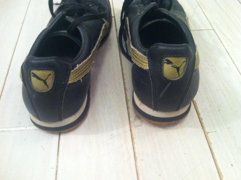 Puma Vintage Black and Gold Roma Sneakers Size US 7 Regular (M, B)
